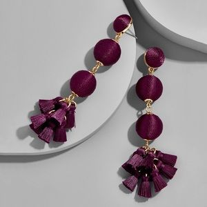 New BaubleBar Tango Ball Drops in Eggplant